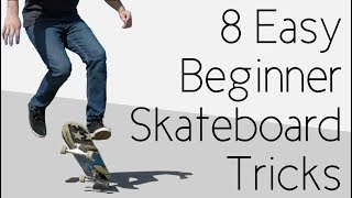 8 Easy Beginner Skateboard Tricks