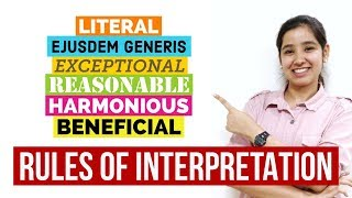 Rules of Interpretation | Interpretation of Statutes in Hindi