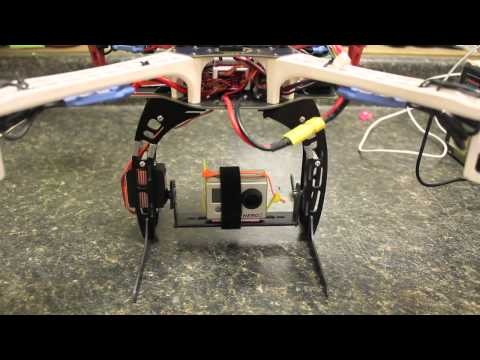 DJI Naza Gimbal Configuration with Tilt Axis Servo on HobbyKing x550 Camera Mount and GoPro HD