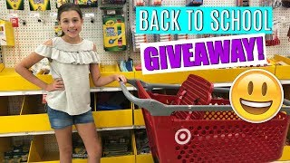HUGE BACK TO SCHOOL SHOPPING TRIP + SCHOOL SUPPLIES GIVEAWAY 2018