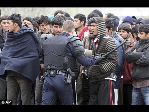 Fighting Between Migrants Wanting To Get To UK