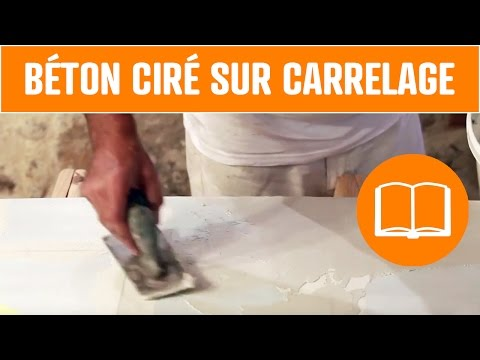 Betoon videolike for Beton cire sur carrelage sol