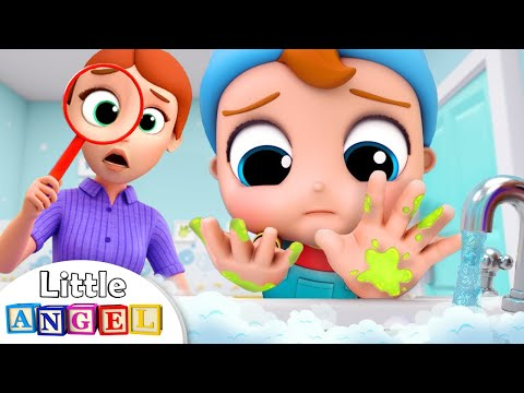 Wash, wash, wash your Hands | Healthy Habits Song | Kids Songs and Nursery Rhymes Little Angel