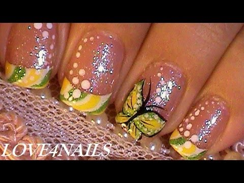 Summer Butterfly ~ 2 Nail Art Design's in 1 Tutorial