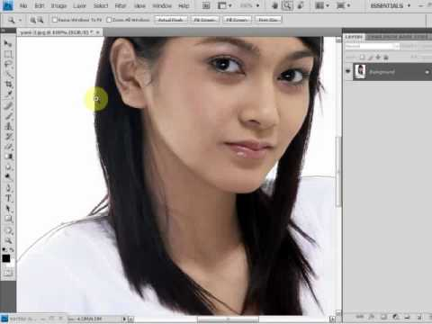 Tutorial adobe photoshop untuk pemula part 1 # ( Mengganti background
