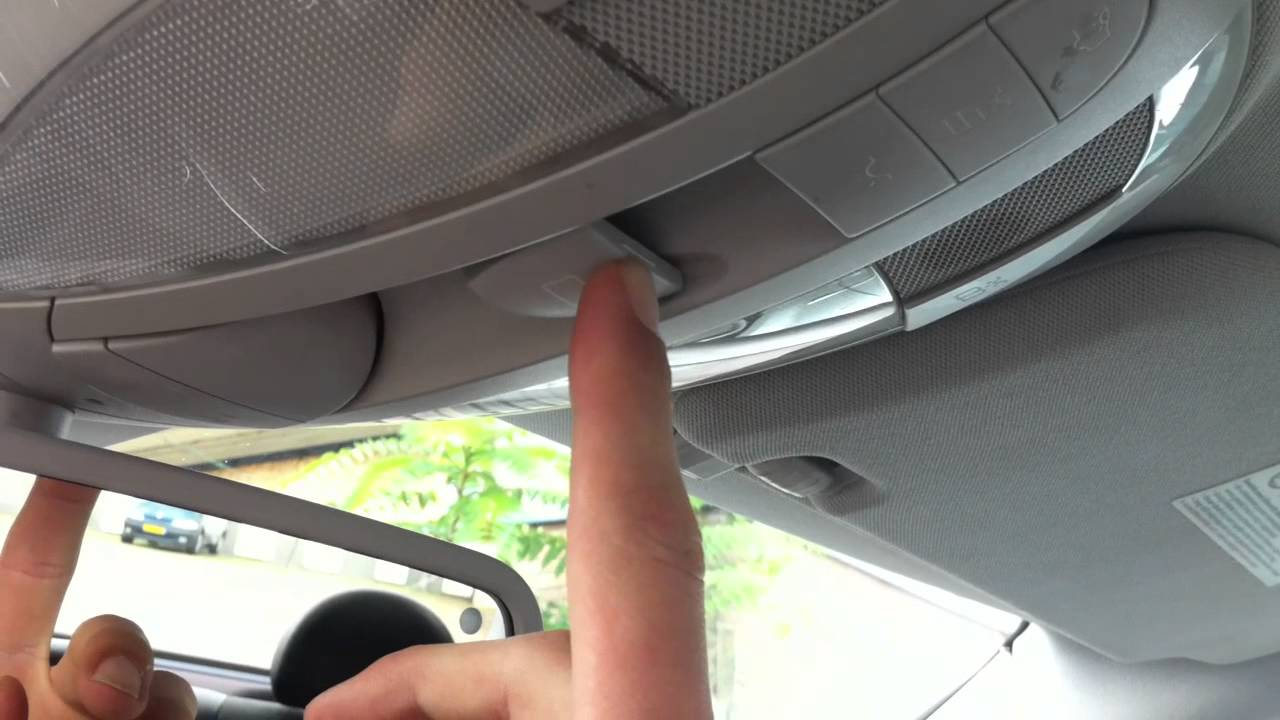 Mercedes E Class W211 How To Reset The Sunroof Youtube