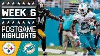 Steelers vs. Dolphins | NFL Week 6 Game Highlights