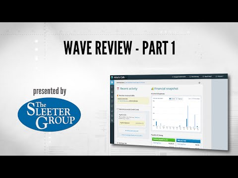 Wave Accounting Software Review / Tutorial - Part 1