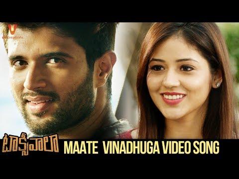 Maate Vinadhuga Video Song | Taxiwaala Songs | Vijay Deverakonda | Priyanka Jawalkar | Sid Sriram