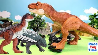 Jurassic World Dino Battle Compilation - Fun Dinosaurs Toys For Kids