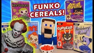 FUNKO Cereals Series 2 Unboxing! PENNYWISE, Cuphead, BeetleJuice, Huckleberry, Batman,