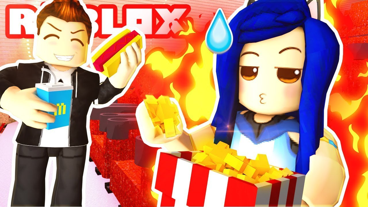 WATCHING HILARIOUS MOVIES IN THE ROBLOX CINEMA!