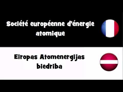 VOCABULAIRE EN 20 LANGUES = Société européenne d'énergie atomique