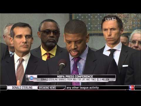 NBPA Kevin Johnson and Roger Mason Jr. address Adam Silver's lifetime ban of Donald Sterling