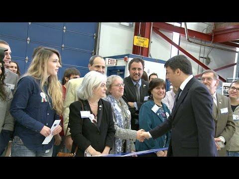 Italian Prime Minister Matteo Renzi visits Fermilab