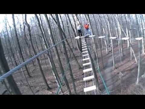 Go Ape Treetop Adventure Course Indianapolis IN.  Point of view. VIO camera