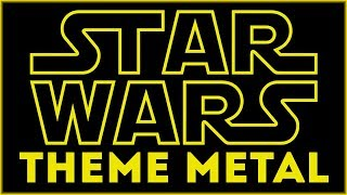 STAR WARS MAIN THEME + 20TH CENTURY FOX THEME METAL