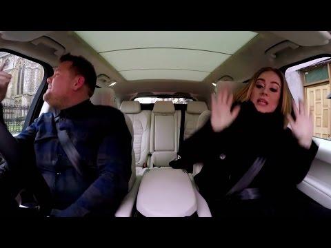 "Adele Raps Nicki Minaj's ""Monster"" Verse With James Corden For Carpool Karaoke"