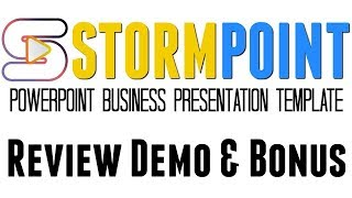 StormPoint Review Demo Bonus - High Quality PowerPoint Business Presentation Template