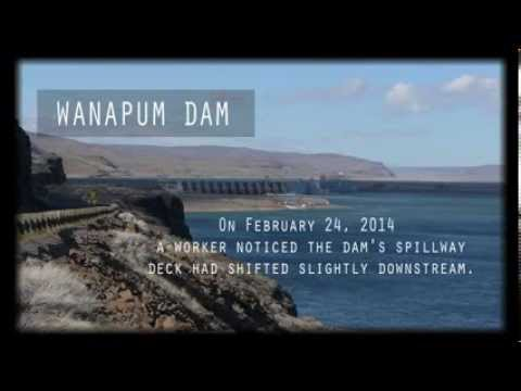 Wanapum Lake Dam a Crack in Wanapum Dam