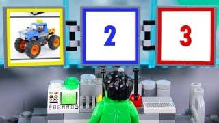 LEGO Experimental Superheroes Truck Driller STOP MOTION LEGO Hulk Monster Cars | Billy Bricks