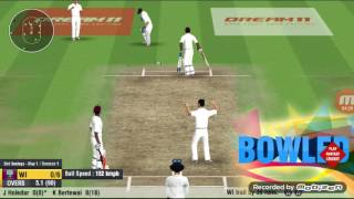 WCC2 BOWLING TRICK.team out for 1/10.how to take wickets quickly in wcc2