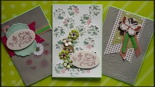 Three simple postcards on March 8! Scrapbooking for Beginners!