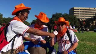 Ellen DeGeneres Gives Away Tickets, Rallies Astros Fans at The University of Houston