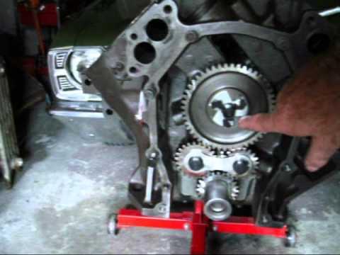 diagram for 390 engine timing marks 440 456 rebuild install gear drive part 5 youtube  440 456 rebuild install gear drive part 5 youtube