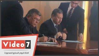 بالفيديو..وزير التعليم يوقع برتوكول مع