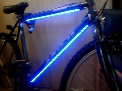 Bicycle LED Lights Installed SIMPLE & CHEAP