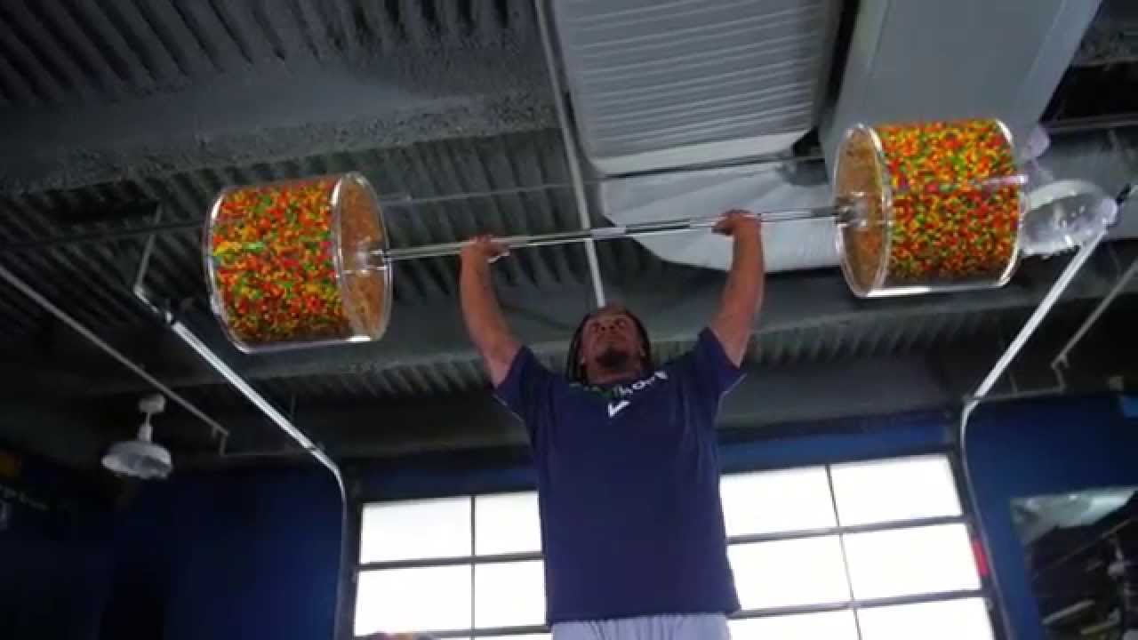 Marshawn Lynch Gears Up for NFL Season with Skittles - YouTube