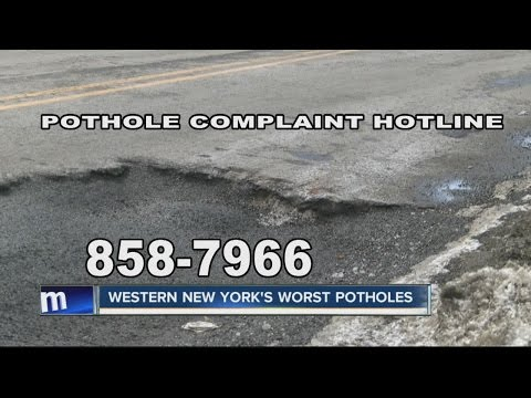 Potholes damaging cars in Western New York