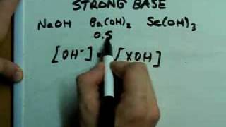 Calculate the pH of a Strong Base
