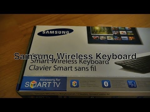 Samsung Wireless Keyboard Bluetooth Smart Tv Remote Control W  Qwerty & Trackpad Mouse For Mac   Pc video