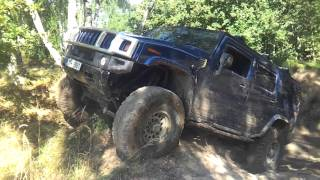 Hummer H2 off road and extreme tilt in MIlovice