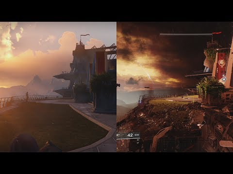 Destiny VS Destiny 2 | GRAPHICS EVOLUTION | TOWER COMPARISON