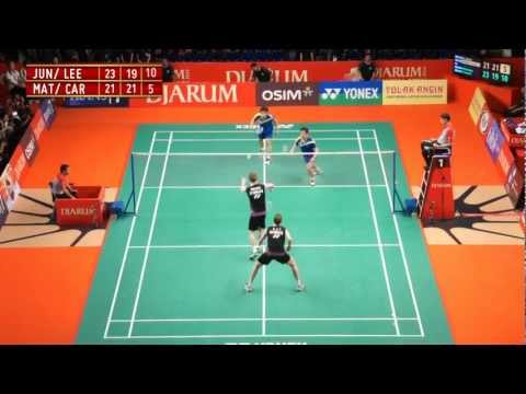 Jung Jae Sung/ Lee Yong Dae (KOR) VS Mathias Boe/ Carsten Mogensen (DEN) Djarum Indonesia Open 2012