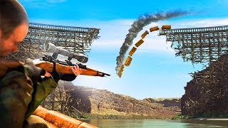 BLOWING UP AN ENTIRE BRIDGE WITH 1 SNIPER BULLET! (Sniper Elite 4)