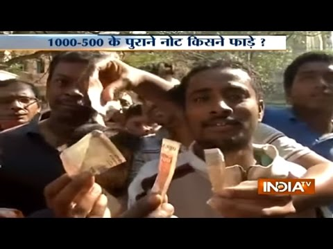 People found torn notes of Rs 500 and Rs 1000 on roads in West Bengal