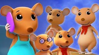 số năm ít nghịch ngợm chuột | nhảy vần | Five Little Naughty Rats