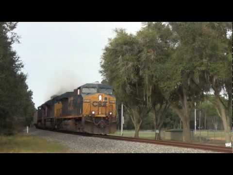 [HD] EPIC CATCH - CSX T080-23 with TWO SD70ACes - Zephyrhills, FL 10.27.2012