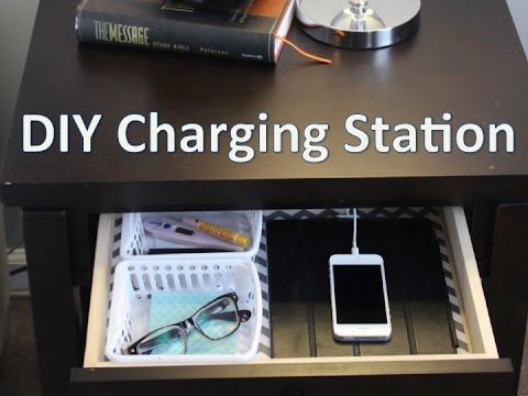 Nightstand Organization Easy Diy Charging Station Youtube