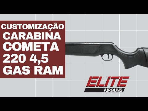 Customização da Carabina de Pressão Cometa 220 4.5mm com GAS RAM Elite Airguns