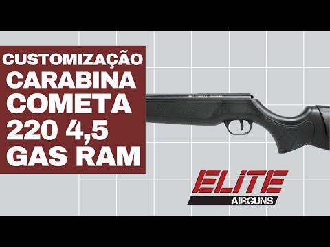 Customização da Carabina de Pressão Cometa 220 4,5mm com GAS RAM Elite Airguns