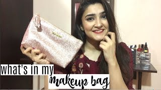 WHAT'S IN MY TRAVEL MAKEUP BAG | Khadeja