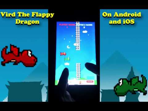 2 PLAYER FLAPPY BIRD GAME - VIRD THE FLAPPY DRAGON - on Android and iphone - HTMMG