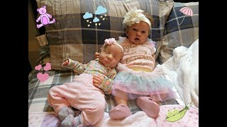 Getting reborn babies Layla and Sunny ready for Easter ( W relaxing music)