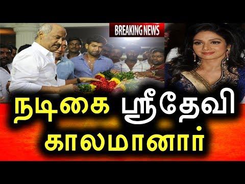 நடிகை ஸ்ரீதேவி காலமானார்   சோகத்தில் திரைத்துறையினர்   Actor Sridevi death thumbnail