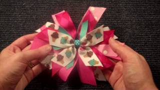Pinwheel Style hairbow tutorial V.2 (hair bow instructions/tutorial)